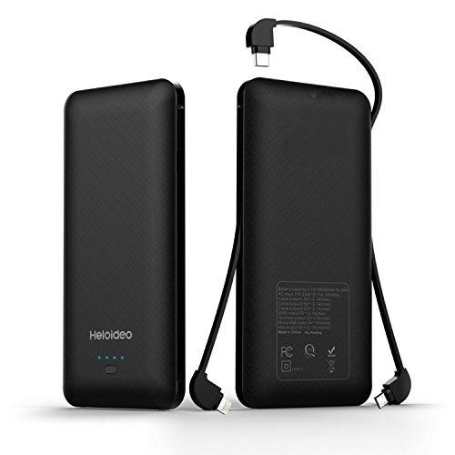 Heloideo 10000mAh Portable Charger Power Bank External Batte