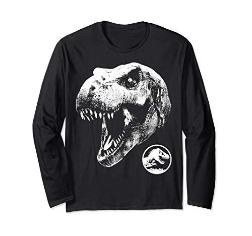 (Jurassic World Dinosaur Skull Long Sleeved T-Shirt)