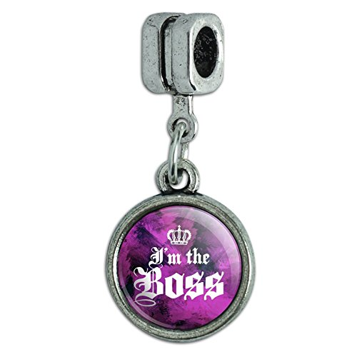 - Graphics and More I'm The Boss with Crown Italian European Style Bracelet Charm Bead