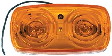 """Uriah Products UL138000 4"""" x 2"""" x 1-1/8"""" Double-Bullseye Incandescent Clearance Light for Trailers (Amber)"""