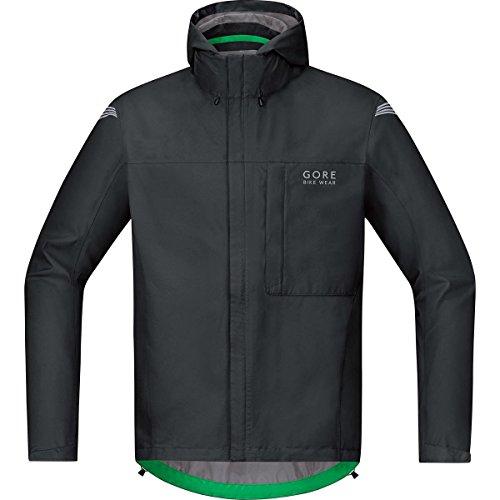 GORE BIKE WEAR Herren Regen-Fahrradjacke, Leicht, GORE-TEX, ELEMENT GT Paclite Jacket, Größe: L, Schwarz, JGPMEL