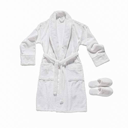 Valeron Bathrobe and Slipper Set One Size Fits Most - Robe Footwear