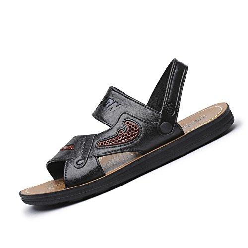 Lässig Und Komfortable Strand Schuhe, Modische Sommer Zeigen Männer Ist Cool, Hausschuhe, Bruttogewicht: 0.6Kg,Schwarz,Eu41
