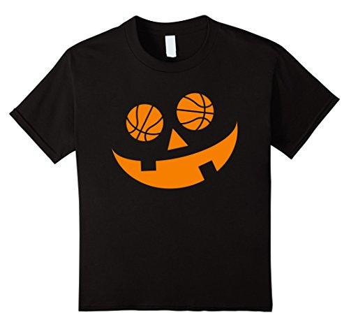 Costume Basketball Hoop (Kids Ball-O-Lantern Baller Halloween t-shirt 12 Black)