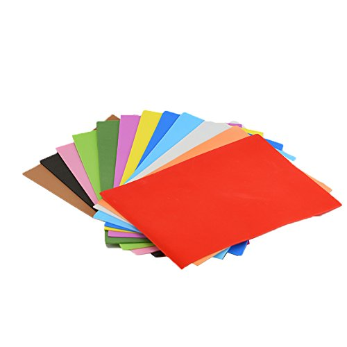 EVA Foam Paper Sheet (24 pcs)-8x12 Inch-2mm Thick A4 Size for Children's Craft Activities DIY Cutters Art-21x30cm (Multicolor) -