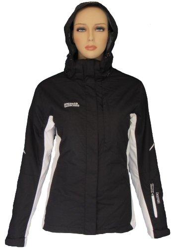 Zara Nordblanc Mujer Nieve Sport Chaqueta Negro de Color ...