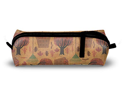 (Pencil Case Pen Bag Autumn Halloween Pouch Stationary Case Makeup Cosmetic Bag Fits All)