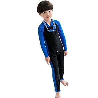 Amazon | 子供用 フィットネス 競泳用 子供用ウエットスーツ・ラッシュガード 水着 日焼け止め UVカット 長袖サーフィンスーツ 連体  キッズ用 男女兼用 | 水着 通販