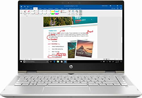 HP Pavilion x360 2-in-1 14″ Laptop Intel Core i3 8GB SDRAM 128GB SSD Ash Silver Keyboard Frame, Natural Silver