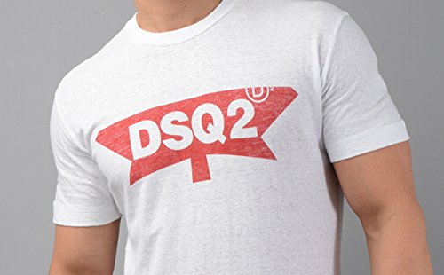 Amazon Com Dsquared2 T Shirt S71gd0596 Mens Dsq2 T Shirt In White