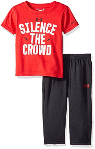 Price comparison product image Under Armour Baby' Short Sleeve Tee and Pant Set, Red, 18 Months