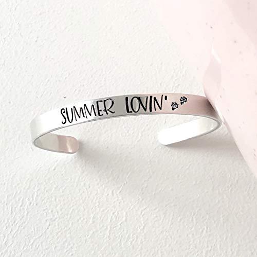 Summer Lovin' Hand Stamped Firefly Cuff Bracelet]()