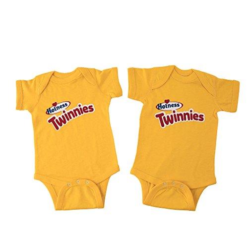 Twin Halloween Costumes (2 (Two) Twinnies bodysuits (12M))