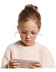 Blauw licht blokkerende bril voor kinderen, glasses blauwlichtfilter Computerbril voor het blokkeren van UV, kinderbril Gamingbrillen, antireflectie voor pc-telefoons TV Video Gaming Meisjes Jongens