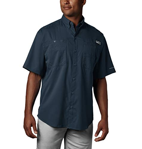 Tamiami Fishing Shirt - Columbia Men's Tamiami II Short Sleeve Fishing Shirt, Collegiate Navy, Large