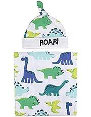 YOURPAI 2 st/set nyfödd baby mottagande filt pannband/hatt bomull swaddle wrap handduk månmoln