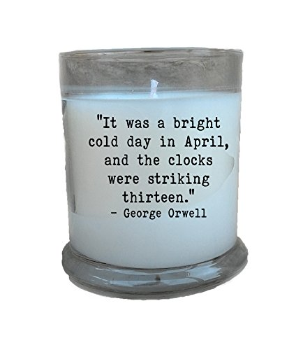 1984-Clocks-Striking-13-Quote-12-oz-Soy-Candle-George-Orwell-Book-Gifts-Literary-Gifts-Book-Lover-Gift