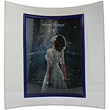 Curved Picture Frames (Royal Blue Border) (5x7)