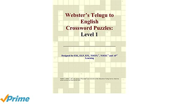 Webster's Telugu to English Crossword Puzzles: Level 1: Philip M