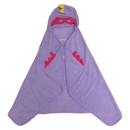 Super Hero Purple Hooded Bath Towel Shy Lavender -