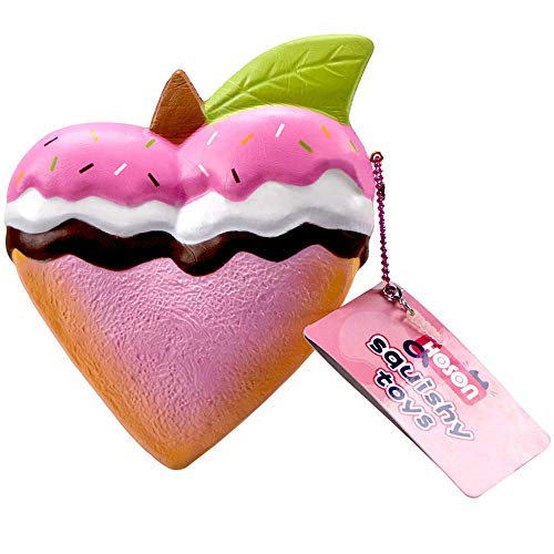 7.5inch JumboSquishies Slow RisingKawaii Squishy Toys Soft Fruit Scented Bread Squeeze Toys Peach Toast Stress Relief Party Favors Kids Toys Doll Decorative Props Large (Pink)