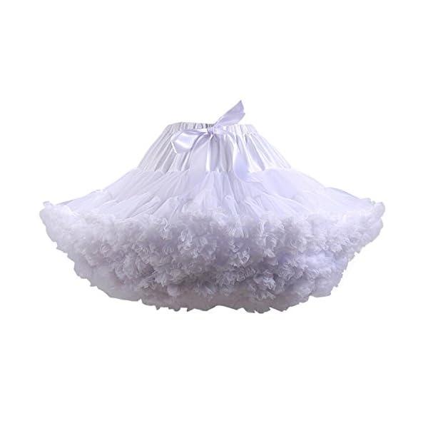 9a316c770 FOLOBE Traje de Tutú de Mujer Danza de Ballet Falda Hinchada de Múltiples  Capas Adulto Lujoso Falda de Gasa Suave Falda de Tul Tutu