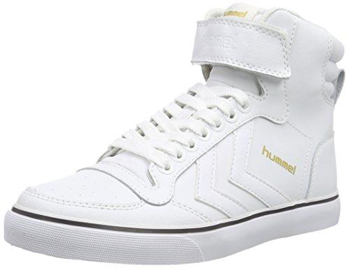 Hummel Stadil Classic, Zapatilla Alta Unisex Adulto Blanco (White 9001)