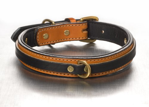 "The Tucker Collar (16"") Black on Tan"