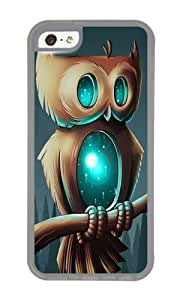 Apple Iphone 5C Case,WENJORS Awesome Night Owl I Soft Case Protective Shell Cell Phone Cover For Apple Iphone 5C - TPU Transparent