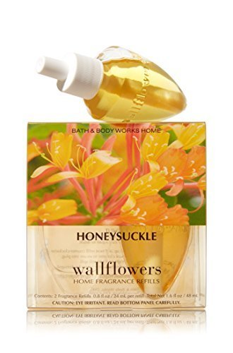 Bath and Body Works Wallflowers 2-Pack Refills, HoneySuckle, 1.6 Fl Oz ()