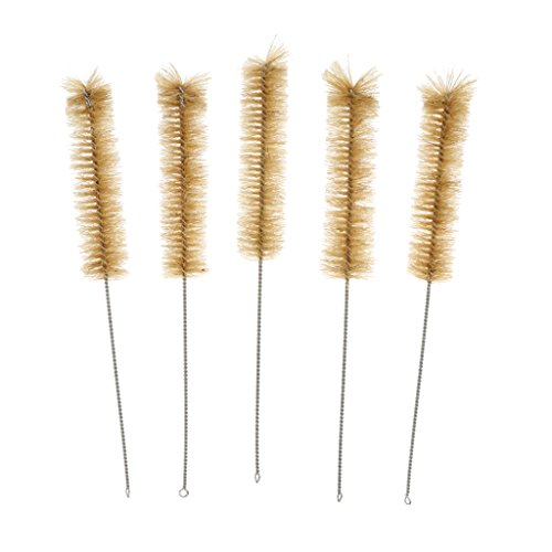 Discount Baosity Test Tube Brush Bottle Beaker Cylinder Pipe Cleaning Straw Brush 5pcs S M L - L