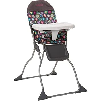 Amazon.com: Cosco simple Flat Fold alta bebé silla con ...