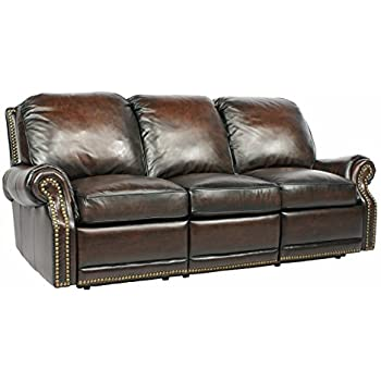This Item Power Recline BarcaLounger Premier II Electric Reclining Sofa    Stetson Coffee