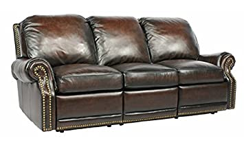 Barcalounger Premier Ll Power Recline Sofa Recliner Stetson Coffee Top  Grain Leather 39660540741