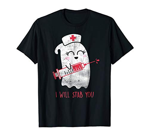 Medical Pun Halloween Costumes - Nurse Ghost I Will Stab You