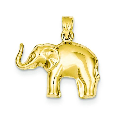 Gold 3d Elephant Charm - 7
