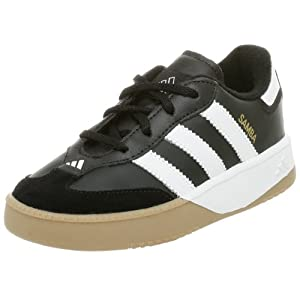adidas Performance Samba M I Leather Indoor Soccer Shoe (Infant/Toddler),Black/White,10 M US Toddler