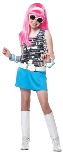 [Big Girls' Go Go Girl Costume Small (6-8)] (60s Girl Costumes)