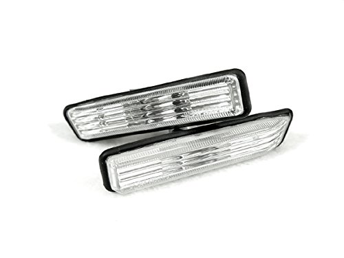 REVi MotorWerks Euro Style Crystal Clear Side Marker Lights Set by DEPO Fit 1997-1999 BMW E36 3-Series