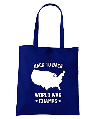 2013 BACK CHAMPS TO Shopper Borsa BACK 03 19 Navy FUN0053 Blu Ya6Rf1Waz
