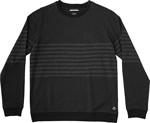RVCA Men's New Sins Crew Sweatshirt, Black, Large