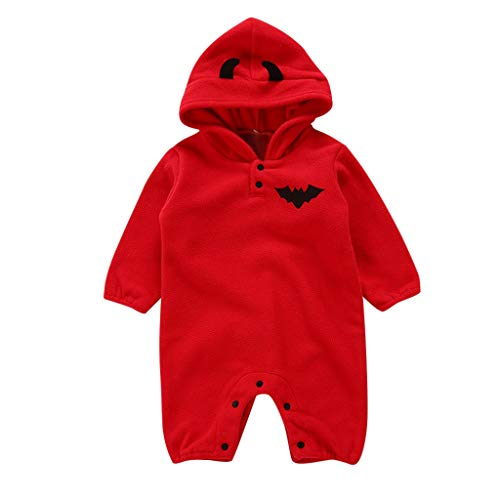 Mgk In A Suit (Mayunn Newborn Baby Girls Cotton Halloween Bat Romper Jumpsuit Hooded Costume Outfits Set Clothes)