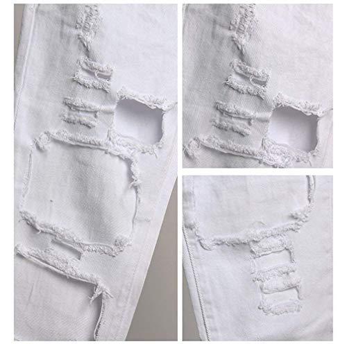 Pantaloni Stretch Holes Bianca Casual Betrothales Elastici Cher Denim Trousers Pantalone Collant Jane Donna A Jeans Normale Alta Vita xqxPAIv
