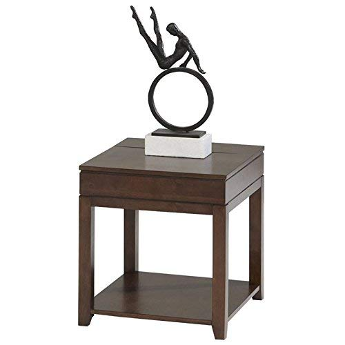Progressive Furniture Daytona Rectangular End Table, Regal Walnut