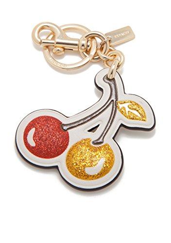 COACH Women's Glitter Cherry Bag Charm