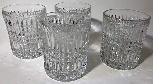 Fostoria Rock Crystal Glasses - Diamond & Flutes Pattern - Set of 4 ()