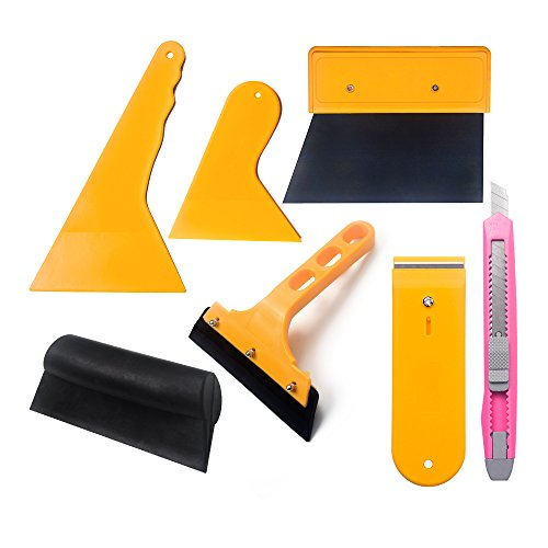 Film Remove Tint (7MO Vehicle Window Tint Tools Kit for Auto Tinting Film Car Glass Protective Film Installation)