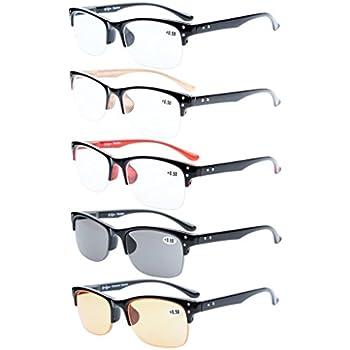 c0dfd35d6638 Eyekepper 5-pack Plastic Frame Spring Hinges Half-rim Reading Glasses  Include Computer Readers