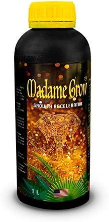 Madame Grow / Abono o fertilizante orgánico para Marihuana o Cannabis / Estimula Raíz y Crecimiento / Growth Acclerator 1 Litro / Potenciador acelerador ecológico