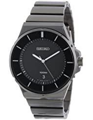 Seiko Mens SGEG21 New Collection Classic Black Ion Finish Watch